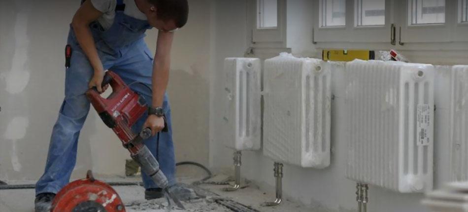 Мотаж и ремонт системы отопления