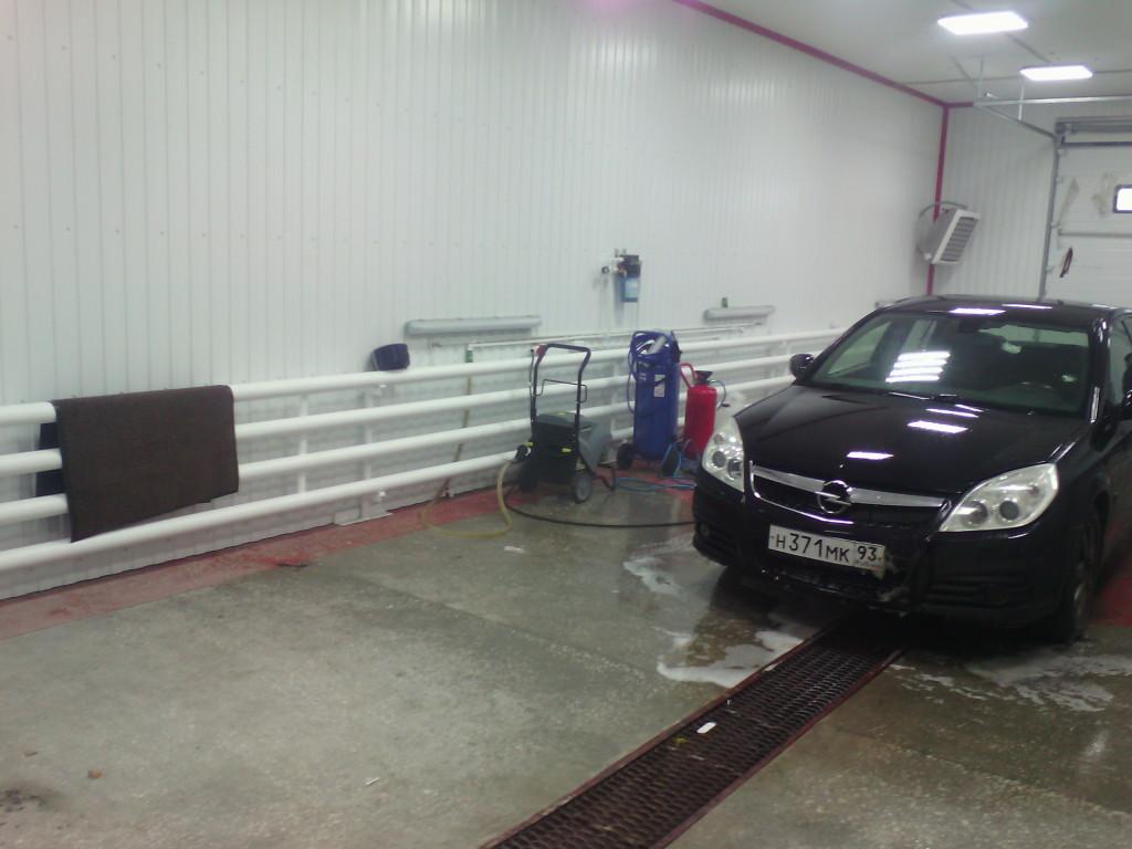 Монтаж системы отопления на автомойке
