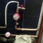 установка счетчика воды - после