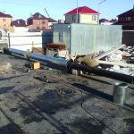 Утепление и монтаж дымохода из 219 трубы на котёл 85 кВт